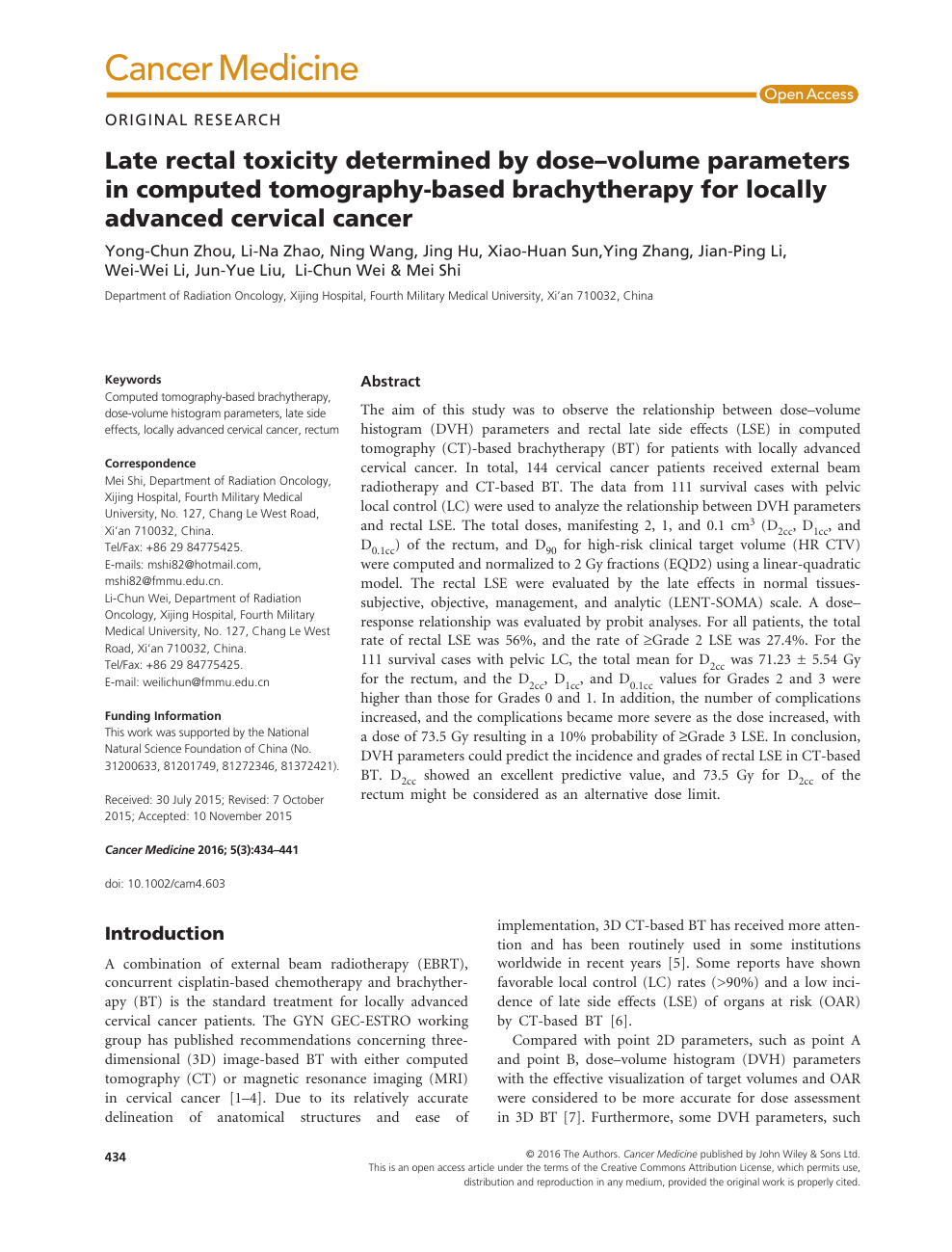 cervical cancer brachytherapy guidelines