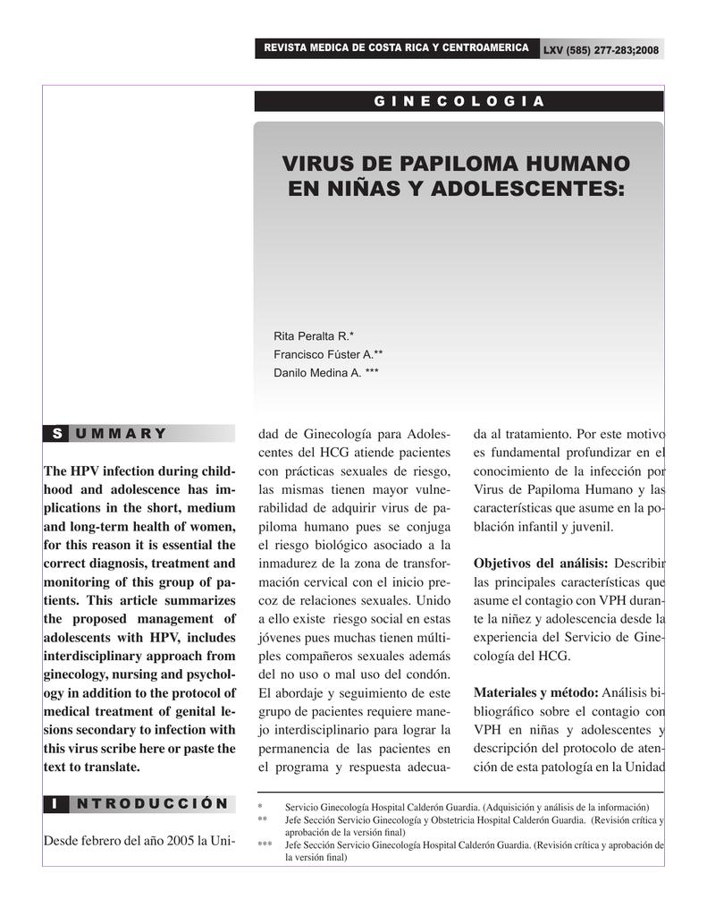 algunas caracteristicas del papiloma humano)