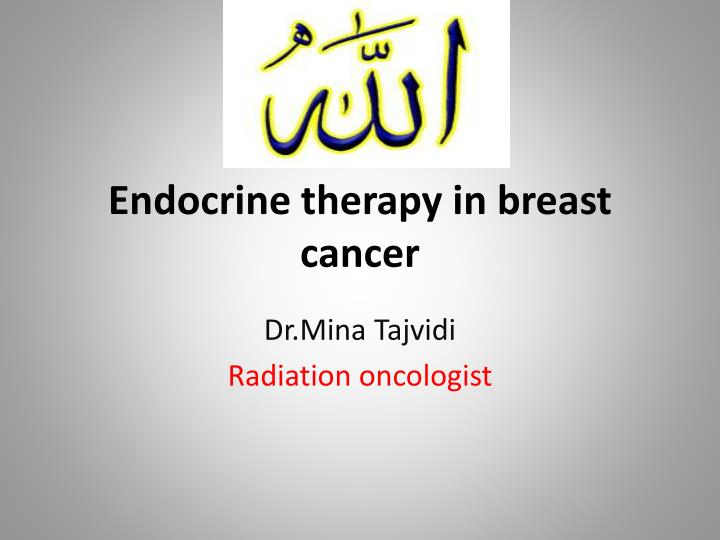 breast cancer hormonal therapy ppt