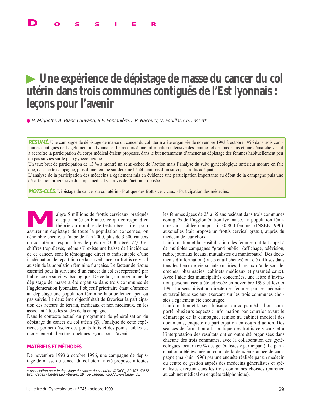 cancer de col uterin dex