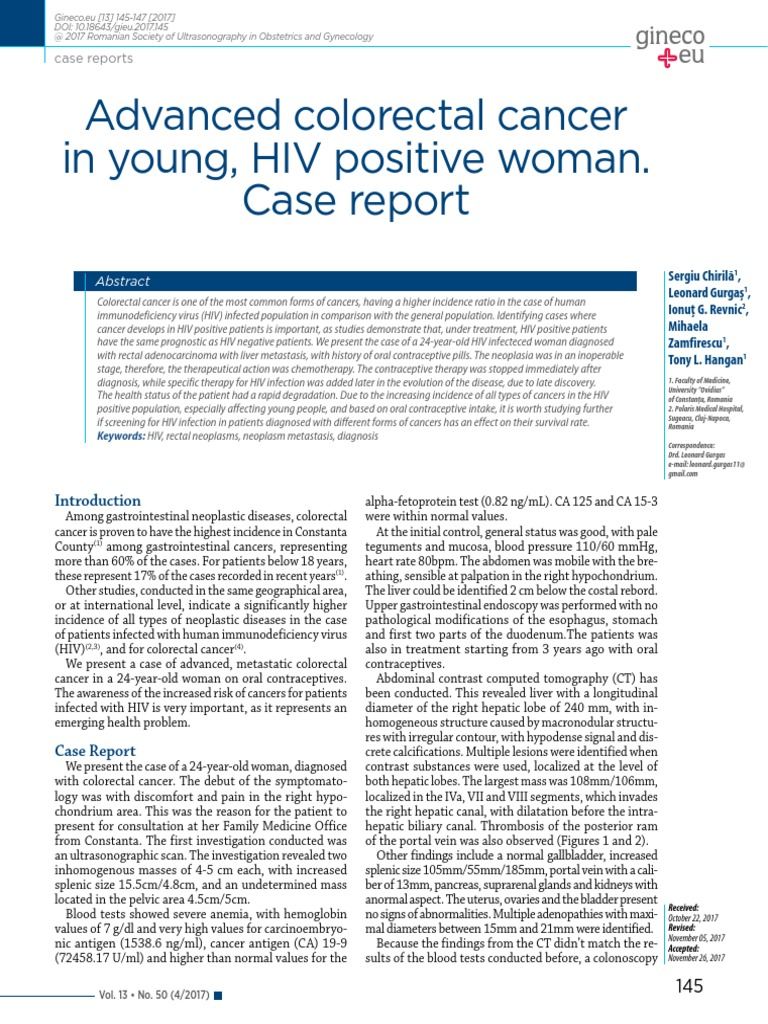 hiv and bowel cancer)