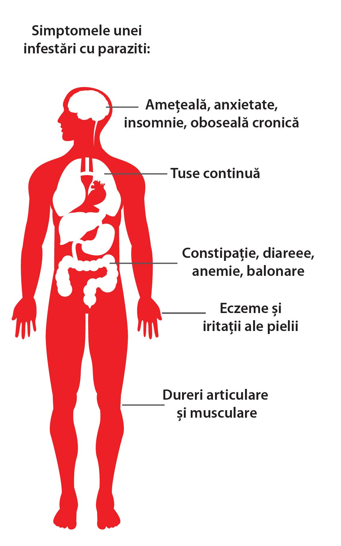 simptome la paraziti